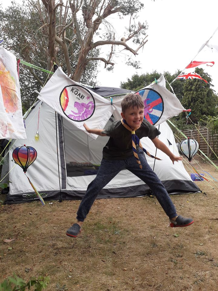 Roar 2020! Surrey Scouts Camp at Home!